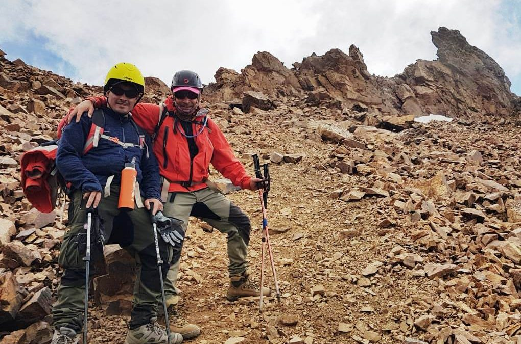 Ascenso al cerro Stepanek 4194 msn. Cordón del Plata. Mendoza