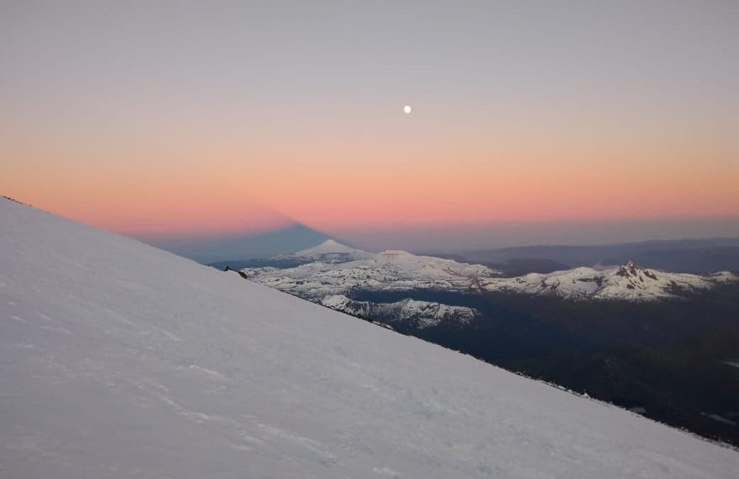Ascenso al volcan Lanin 3776 msnm. Neuquen. Patagonia.