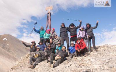 Cruce de los Andes caminando de Argentina a Chile.