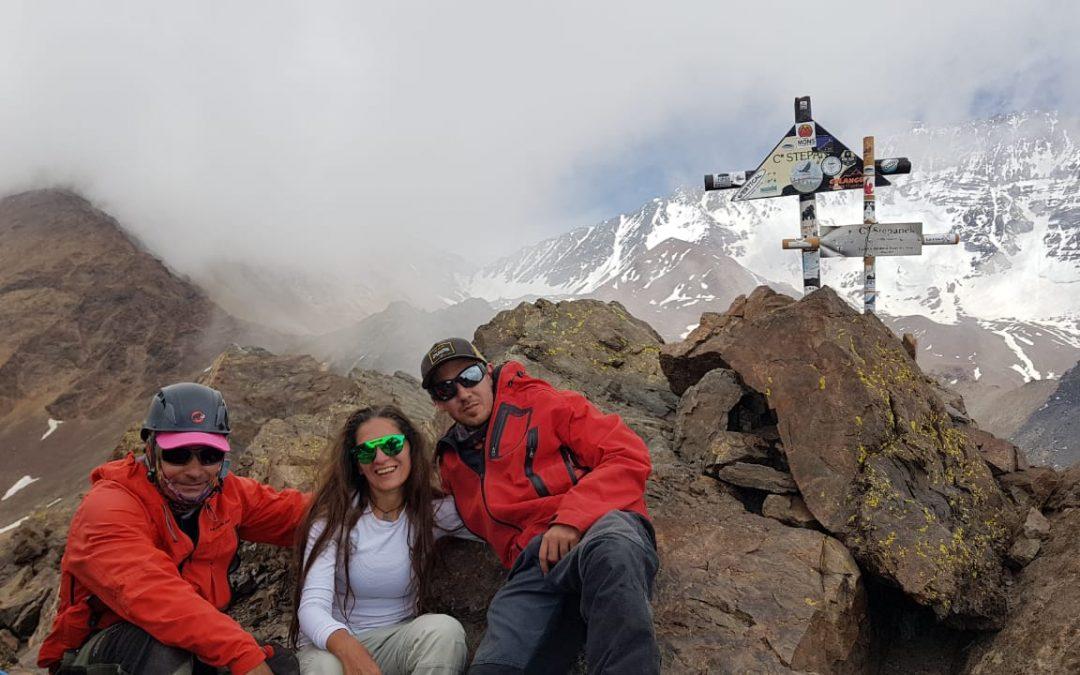«3×4000»Ascenso al Cerro Adolfo Calle,  Stepanek y  San Bernardo